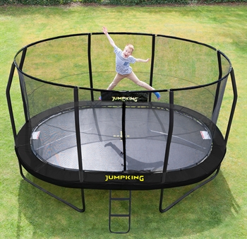 Jumpking Trampolin Oval Black 4,6 x 3,05 m